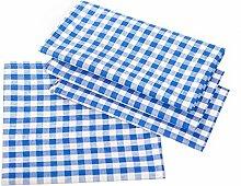 Landhaus Tischdecke Karo Blau 130x280 cm Baumwolle von Hans-Textil-Shop