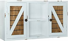 Landhaus-Wandschrank, rustikales Holz,