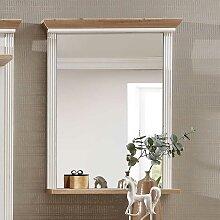 Spiegel Holz weiß maritim Tau 75cm Barock natur Landhaus Wandspiegel Badspiegel