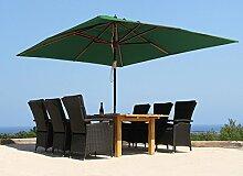 Landhausschirm Sonnenschirm 3x4m Polyester Grün