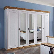 Landhausstil Kleiderschrank in Weiß Kiefer massiv abschließbar