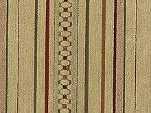 Landhausstil Möbelstoff Como Streifen mit Fleckschutz Farbe natur (natur, beigegelb) - Flachgewebe (Geometrisch, Streifen), Polsterstoff, Stoff, Bezugsstoff, Eckbank, Couch, Sessel, Hussen, Kissen