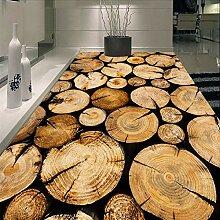 Landhausstil Sägewerk Holz Haufen Wandbild Boden