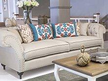 Landhausstil Sofa Jacksonville mit Knopfheftung