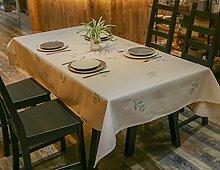 Landhausstil Tischdecke Stoff Rechteck Tischdecke