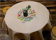 Landhausstil Tischdecke Stoff Rechteck Tischdecke Tischdecke Tischdecke ( größe : 140*140cm )