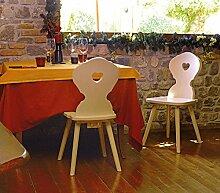 Landhausstuhl Bauernstuhl Fichtenholz roh Sessel Stuhl