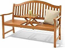 Landmann 3er Gartenbank Holz Sitzbank mit
