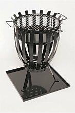 Landmann Feuerkorb mit Grilleinsatz - schwarz -