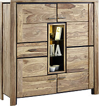Landscape HIGHBOARD Sheesham massiv Sheeshamfarben