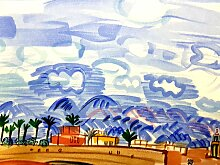 Landscape Lithografie von Raoul Dufy, 1965