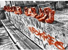 Landscapes Shoes Fotodruck in Orange East Urban