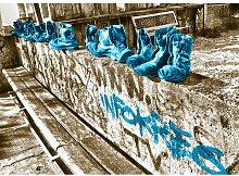 Landscapes Shoes Fotodruck in Türkis East Urban
