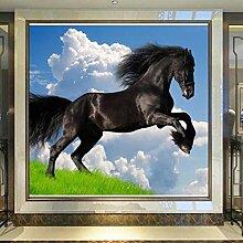 Landschaft 3D Blauer Himmel Weiß Wolken Schwarzes