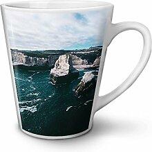 Landschaft Foto Natur Weiß Keramisch Latte Becher 12 oz | Wellcoda