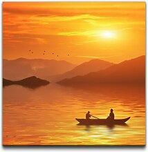 Landschaft mit Ruderboot