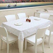 LandschaftPVC Tischtuch/Wasser und Öl Beweis Einweg-Tischdecke/Plastik Stanzen Tischdecke/Tischsets-C 100x137cm(39x54inch)