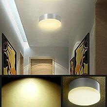 LANFU 10W Wandleuchte Deckenleuchte rund WarmweißesIP 20 / Ф150*70MM /CE Zertifizierung / led küche ceiling lampen für Wohnraum, Bad, Flur, Wand, Decke