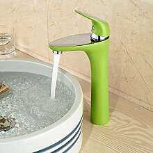 Lang FA grün Farbe Deck montieren Hand Waschbecken Spüle Wasserhahn Armatur Einhebelmischer Griff korrosionsfest a