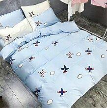 Langarm Baumwolle gestickte Bettwäsche/Kinder