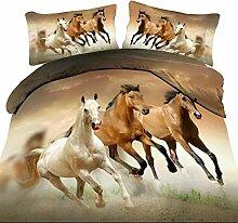 Langde Bettwäsche-Set Galoppieren Pferde