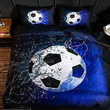 Langde Bettwäsche-Set Sport Fußball Muster mit