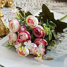 Lange 28 cm Blume dekorative Blumen 5 Blumen