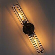 Lange Doppelte Mauer Retro - Der Wind Eisen Schmiedeeiserne Treppe - Lampe Kreative Persönlichkeit RestaurantLange Doppelte Mauer Schalungen Wandleuchten
