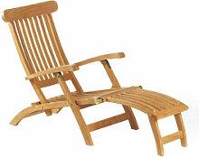 Langlebiger Deckchair aus zertifiziertem Teakholz