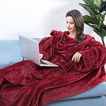 LANGRIA TV-Decke mit Ärmeln XL-Kuscheldecke