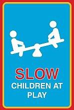 Langsam, Kinder am Print Kinder spielen Balance