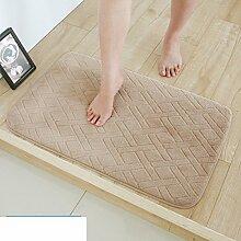 Langsame Erholung Saugfähigen Sanitär Mat,Fußabtreter,Bad Küche Schlafzimmer Mat,Wasserdichte Pad,Foot Pad-G 100x140cm(39x55inch)