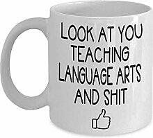 Language Arts Lehrer Kaffee-Haferl - Geschenkidee