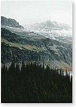 LangYue West Glacier USA Waldlandschaft Poster und