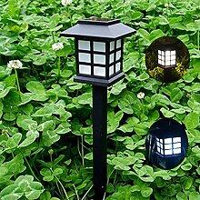 LanLan 2 STÜCKE Lichtsensor Solarbetriebene Rasen Pin Lampe Yard Garten Licht Dekoration