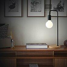 LanLan Creative Bedside Dormitory Lesen Tischlampe Eisen Design Holz Basis Stand einfache Dekoration Home Desk Night Lamp