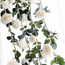 Lanlan Dekorative Fake Rose Blumen für Home Wand
