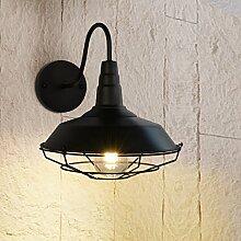LanLan E27 Retro Industrial Style Eisen Wandleuchte Halter Licht Fall Home Hotel Bar Dekoration (ohne Lichtquelle)