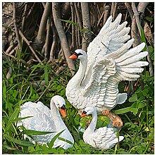 Lanlan europäischen Home Innendekoration Micro Landschaft Kreativ DIY Kunstharz Swan Innendekoration Dekoration 3