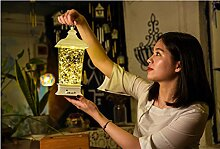 LanLan Feurige Bäume & Silber Blumen LED Dimmen Kupferdraht Licht Fernbedienung Wunsch Lampe Nachtlicht Dekoration Geschenk (Weiße Schale)