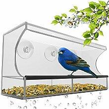 LanLan Futterspender Acryl Transparent Vogel