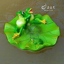 LanLan Garten-Skulptur, schwimmender Frosch, aus