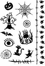 Lanlan Halloween Horror Serie Funny Tattoo Serie