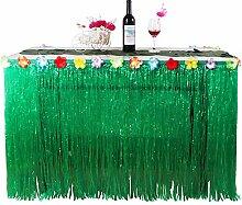 Lanlan Hawaiian tropischen Stil Kunstrasen Tisch Rock Blume eingelegten Party BBQ Party Geschirr Dekoration, Grün