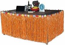 Lanlan Hawaiian tropischen Stil Kunstrasen Tisch Rock Blume eingelegten Party BBQ Party Geschirr Dekoration, orange