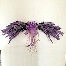 Lanlan Hochzeit Dekoration für Haus Garten Lavendel Tür Kranz Künstliche Blumen Tür Sturz Spiegel Girlande