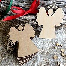 Lanlan Holz Engel Dekorieren Weihnachtsbaum hängende Dekoration Ornament Weihnachten Anhänger 100