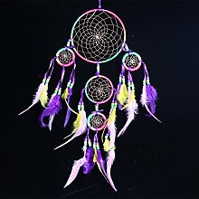 Lanlan indischen Feder Dekoration 1Stück Auto Aufhängen oder zum Aufhängen Dream Catcher