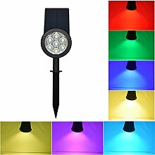 LanLan Kreative Lichtsensor Solarbetriebene Rasen Pin Lampe Yard Garten Licht Dekoration