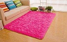 Lanlan New Arrival Fashion Farbe für Home Dekorieren Hot Pink Ultra Soft 4,5cm dick Indoor Schöne Einrichtung Bereich Teppiche Pads